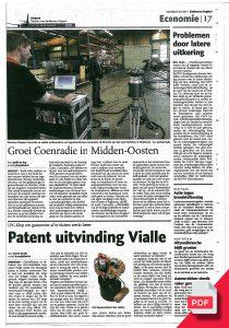Artikel Coenradie Publicaties Eindhovens Dagblad Midden-Oosten Laser Tracker