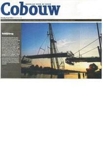Cobouw Voldijkbrug Meetwerk van Coenradie en Publicaties