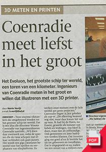 Jubilierend Ingenieursbureau Coenradie Publicaties 123D producties Eindhovens Dagblad