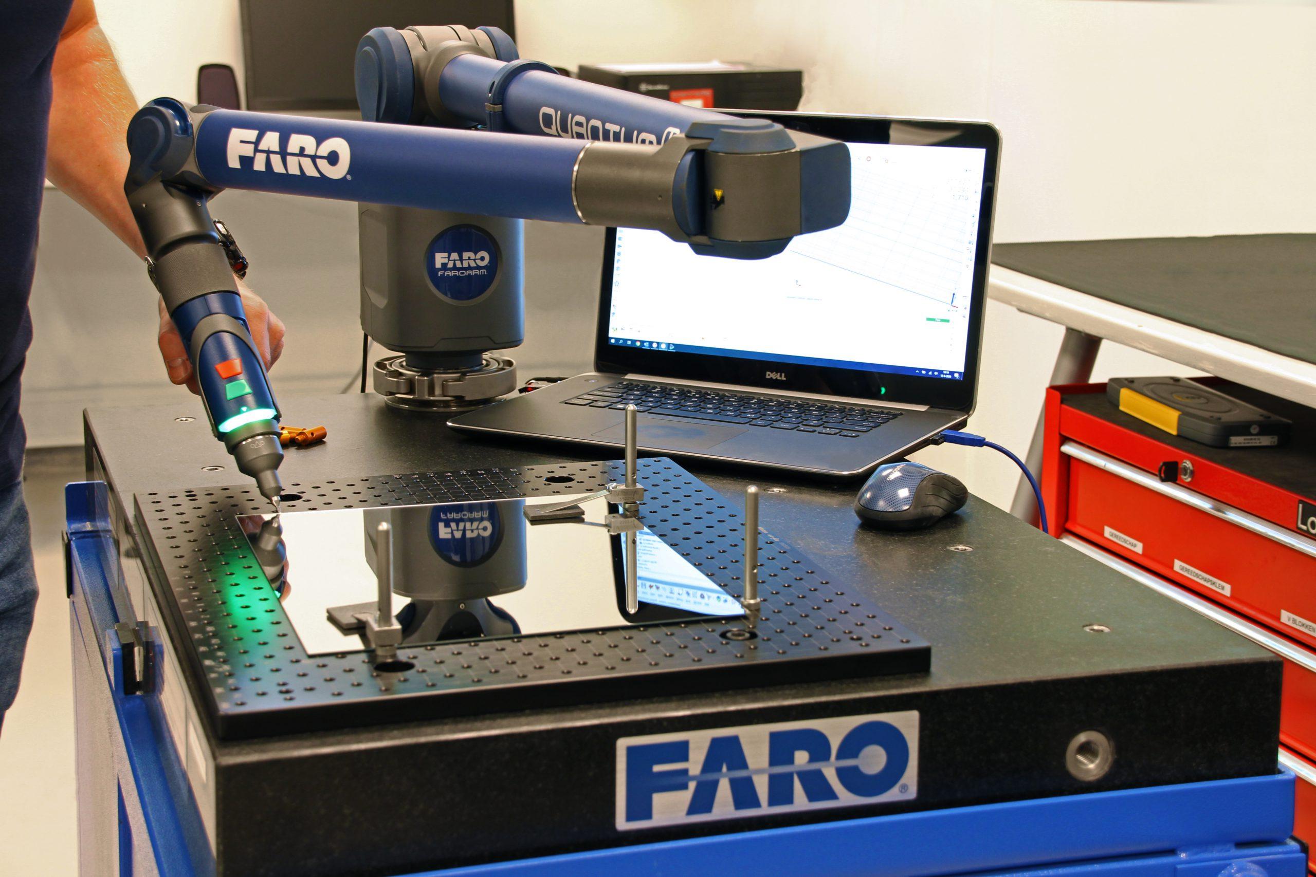 Met mobiele 8-assige meetarm kunnen productinspecties ook op locatie uitgevoerd worden