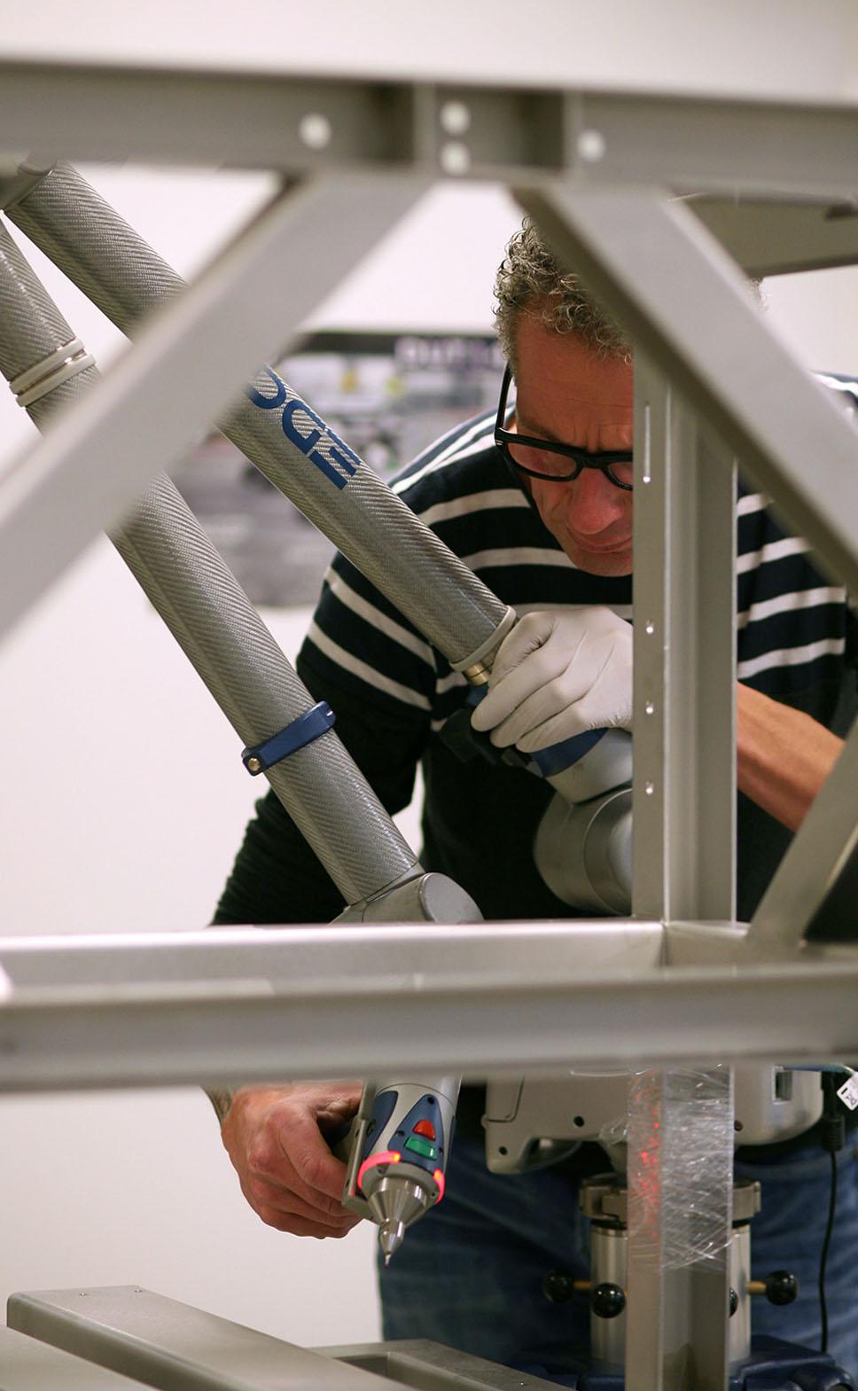 Inspectie van een gelast frame doormiddel van tactiel meten