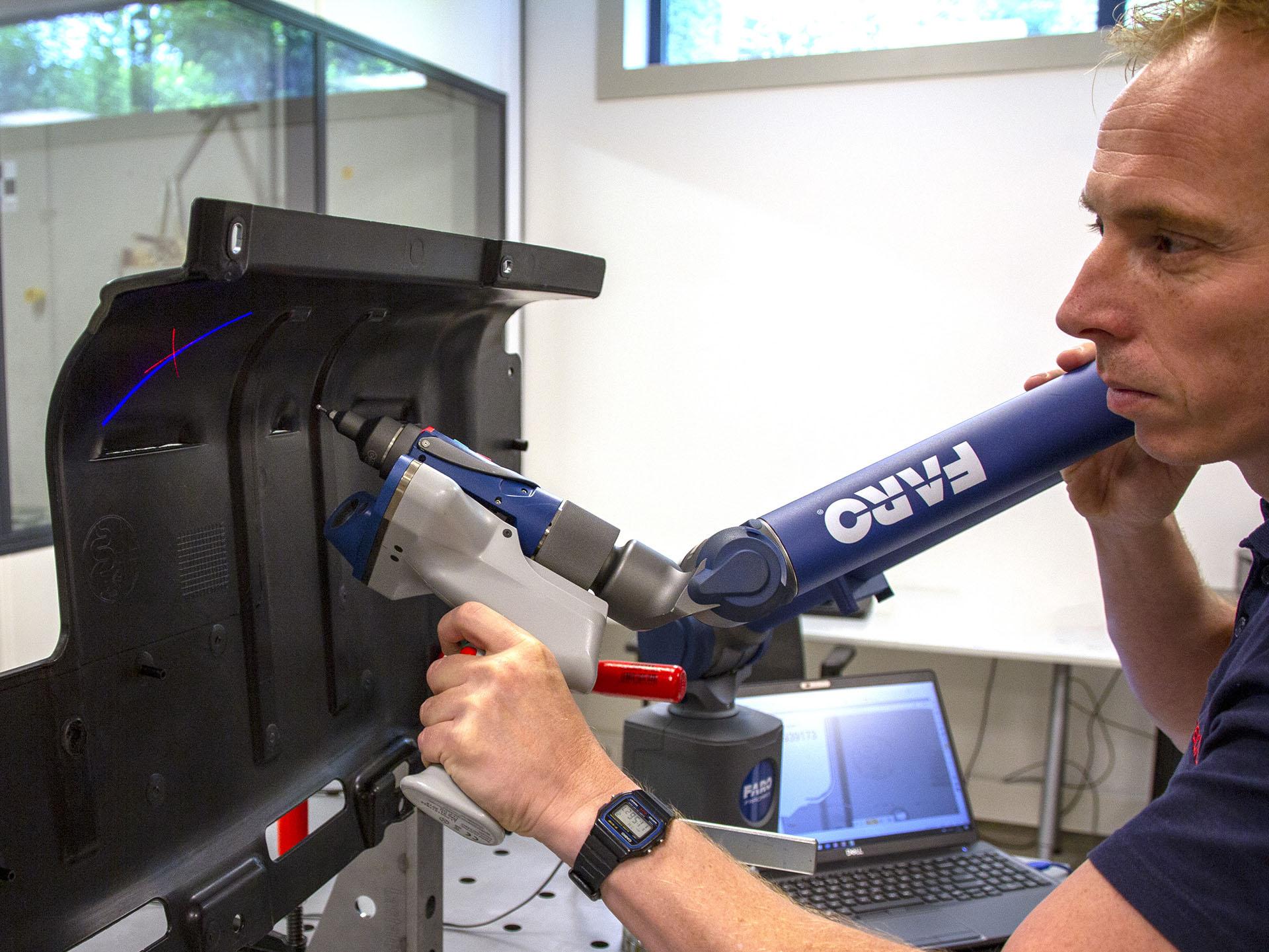 3D scanning van een kunststof onderdeel met de FARO Laser Line Probe